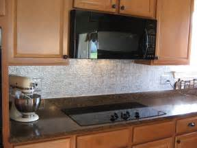 Faux Tin Kitchen Backsplash by Fake It Frugal Fake Punched Tin Backsplash