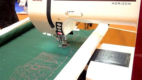 Free Style Quilting by Janome Horizon On Freestyle Quilting Frame