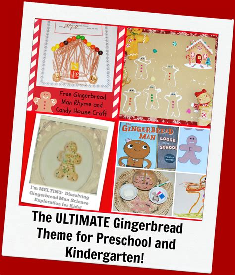 preschool gingerbread man printable book the ultimate gingerbread theme for preschool and
