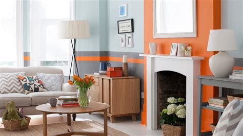 Grey White Orange Living Room by Use Zingy Orange Accents To Jazz Up Cool Grey Dulux Grey