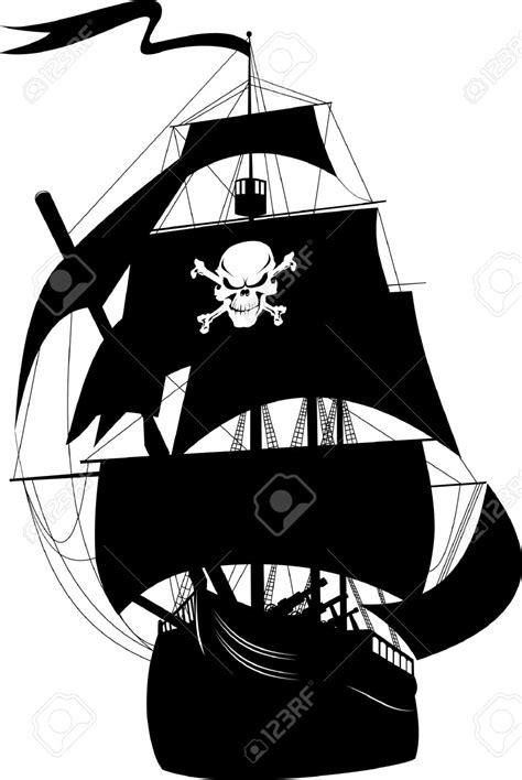 dessin bateau silhouette pirate ship silhouette clipart clipground