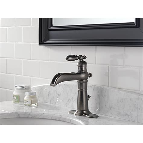 pewter bathroom faucet delta victorian 554lf pt single handle bathroom sink