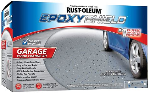 Garage Floor Paint 5 Gallon Rustoleum 251965 2 Pack 1 Gallon Epoxy Shield Gray Garage