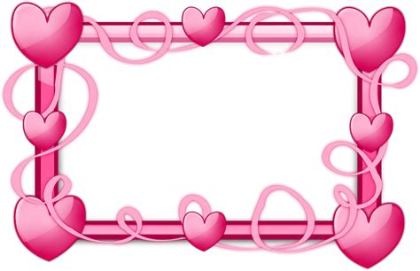 image with hearts clipart pink hearts frame