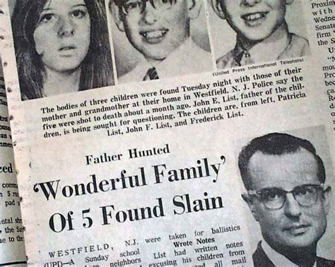 Murder On The List list family murders rarenewspapers