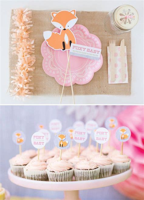 Orange Baby Shower Themes by Fox Themed Baby Shower Woodland Pink Orange Themed