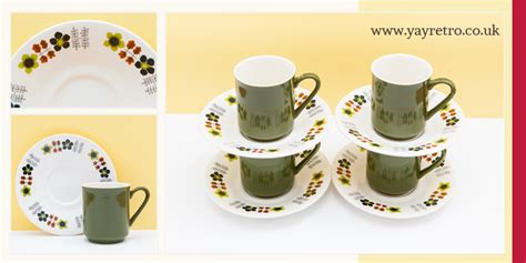 Yay By Raisa Green Tea Coffee bloomin fantastic vintage cups and saucers vintage