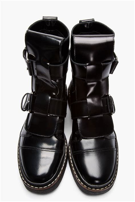 black boots with buckles marni black leather buckle boots