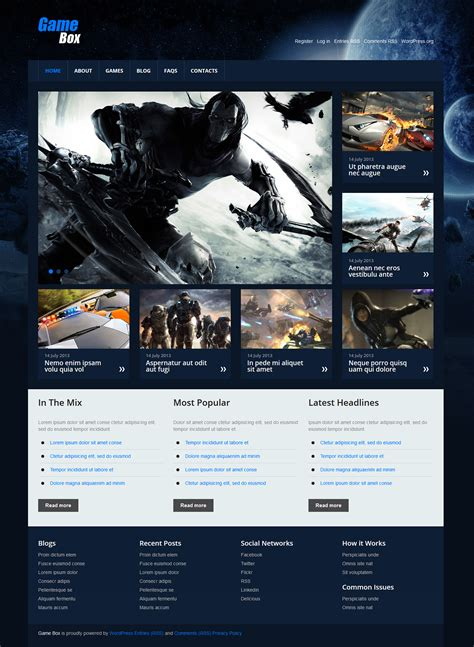 free bootstrap templates for gaming gaming templates on behance