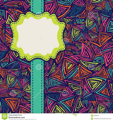 wallpaper ethnic design design template cover with ethnic pattern stock vector