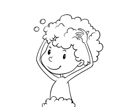wash hair before coloring at home washing the hair coloring page coloringcrew