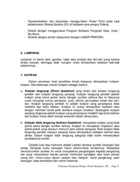 format margin skripsi pedoman penulisan skripsi