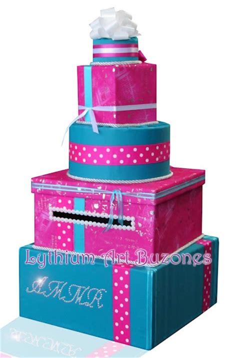 Sweet 16 Gift Card Box - buz 243 n de regalos turquesa fucsia para 15 a 241 os card box sweet 16 design by yil