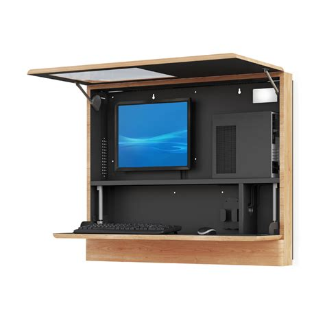 cabinet for pc wall mounted computer workstation cabinet afcindustries