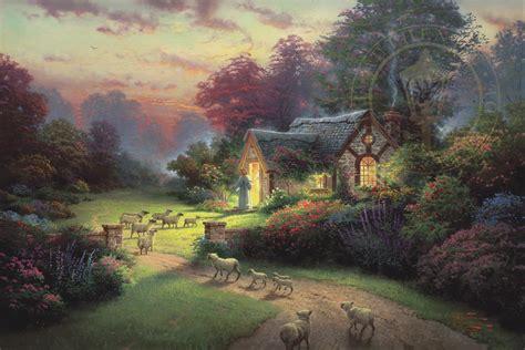 good shepherds cottage thomas kinkade studios