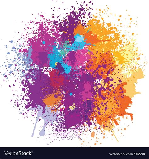 color free color background of paint splashes royalty free vector image
