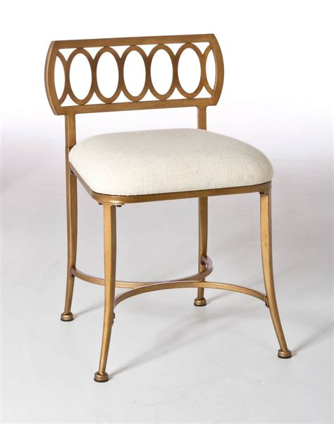 Gold Vanity Stool hillsdale canal vanity stool gold bronze 50973