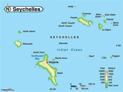 seychelles map purchase this as a poster
