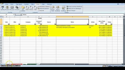 Ace Lead Tracker Youtube Lead Tracking Excel Template