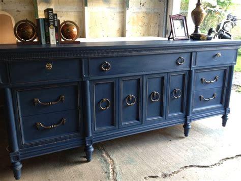navy blue painted vintage dresser   loved furniture