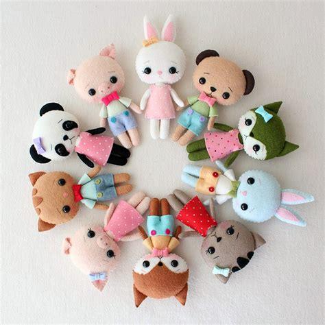 pattern for making felt animals cute felt patterns from gingermelon super cute kawaii