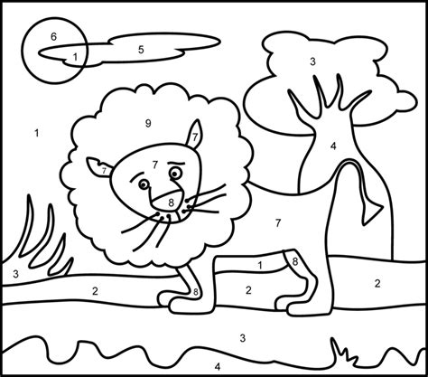 coloring pages easy to print easy color by number printables az coloring pages