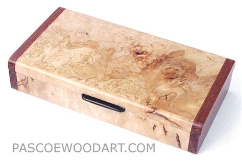 Handmade Decorative Boxes - handmade decorative small wood box made of maple burl with