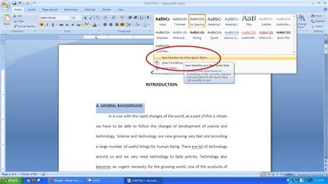 belajar komputer  mudah  membuat daftar isi