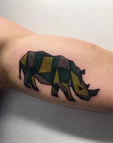 geometric tattoo rhino 90 rhino tattoo designs for men cool rhinoceros ink ideas
