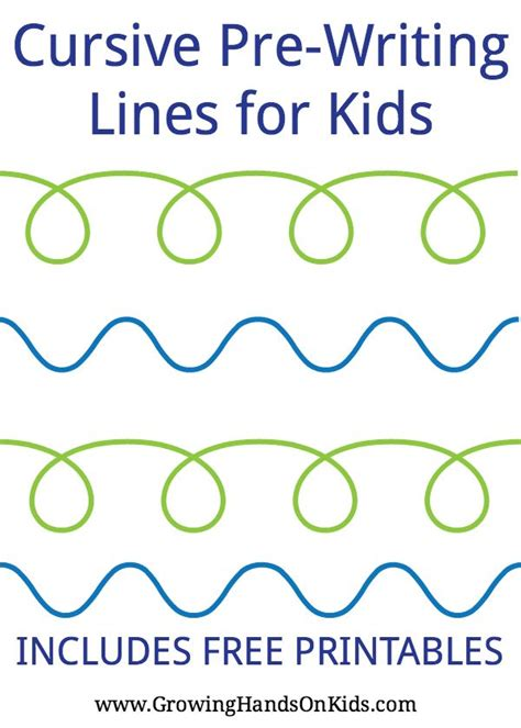 Pre Writing Strokes Worksheets by Cursive Pre Writing Lines And Strokes For Free