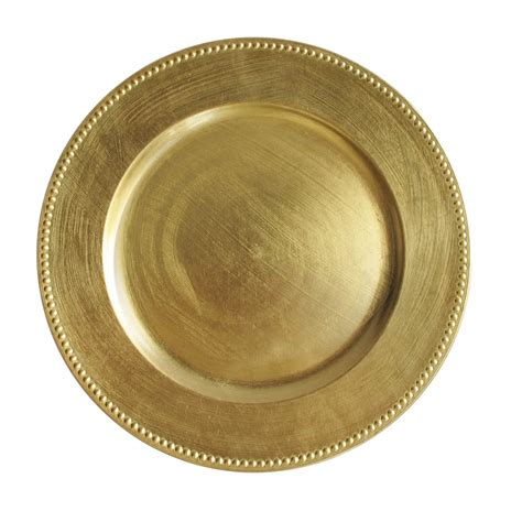 gold charger plates 1 the companies 13 quot gold beaded melamine charger plate