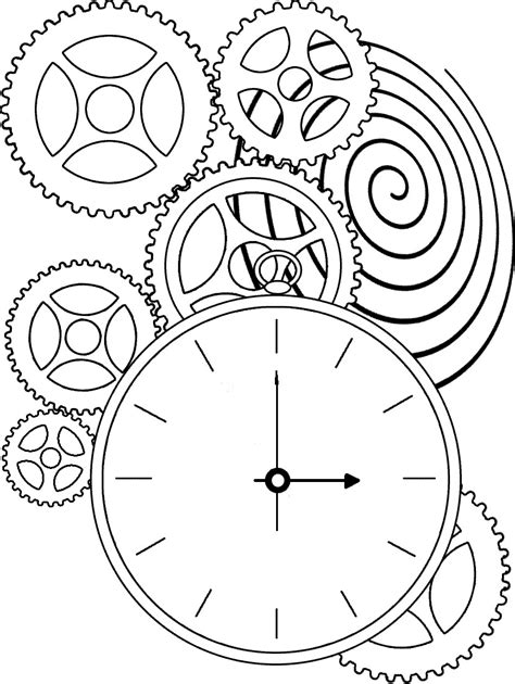 coloring pages printables printable clock coloring pages coloring me