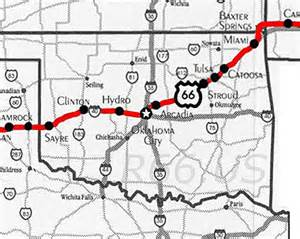 Route 66 Oklahoma Map by Route 66 Oklahoma