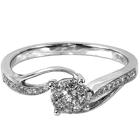 1 4 carat t w 10kt white gold engagement
