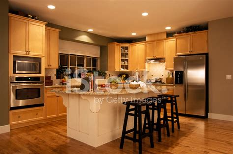 house interior modern kitchen house interior stock photos freeimages