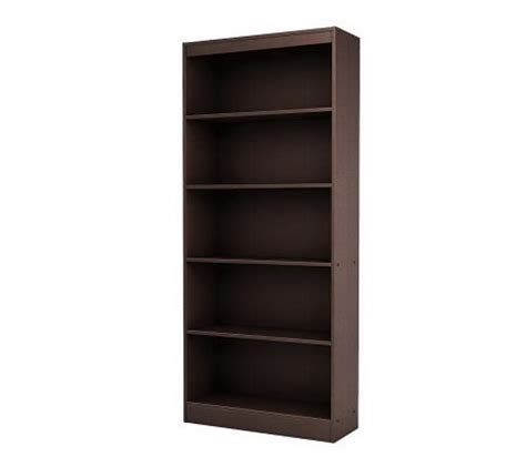 South Shore 5 Shelf Bookcase by South Shore Axess 5 Shelf Bookcase Qvc