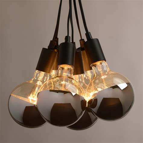 Light Fixture Medallion Chrome Tip 6 Bulb Cluster Pendant L Pendant Lighting Light Fixtures Black Brown Fitting Warm