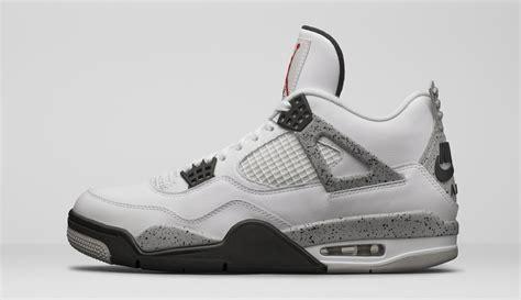 Nike Air 4 Retro Og 89 White Cement Sneakers Pria Premium nike air 4 og 89 white cement 2016 sneaker bar