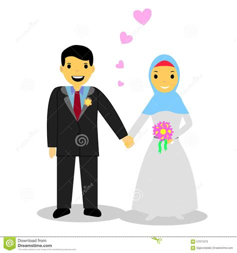 Muslimah Wedding Vector by Muslim On White Stock Vector Image 57971275