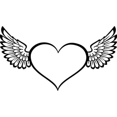 imagenes de corazones entrelazados corazones con alas blanco y negro www pixshark com