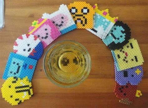 handmade adventure time drink coaster set gadgetsin
