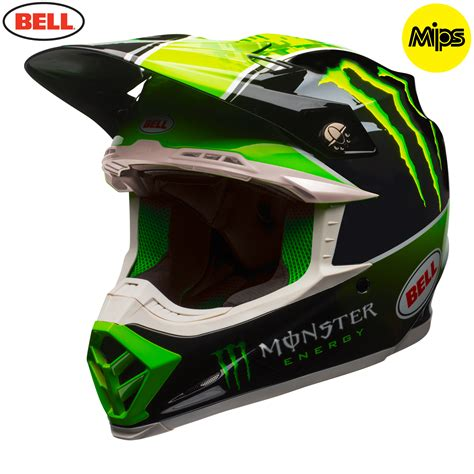 monster helmet motocross 2018 bell moto 9 mips tomac monster energy helmet black green