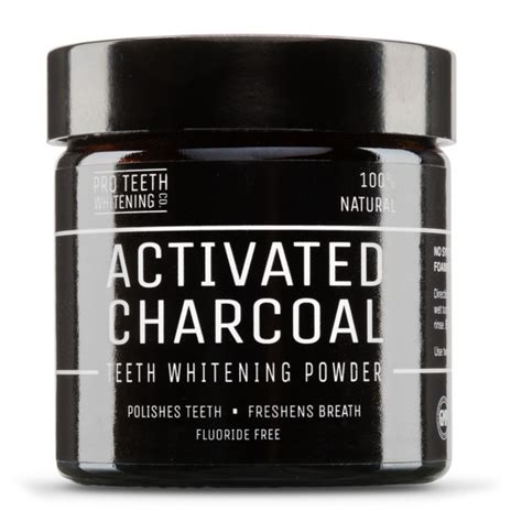 teeth whitening activated charcoal powder pro teeth