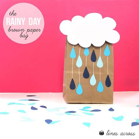 Paper Bag Craft Ideas - the rainy day bag fill these brown paper bags with