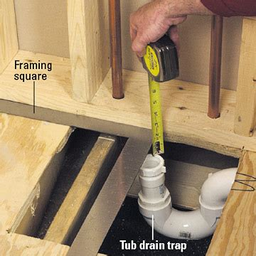 bathtub trap installation installing a whirlpool tub how to install a new bathroom diy plumbing diy advice