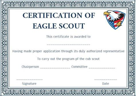 scout certificate templates scout certificates template condo financials