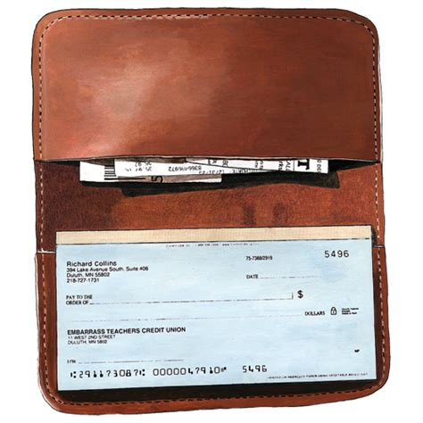 checks book leather checkbook cover frost river