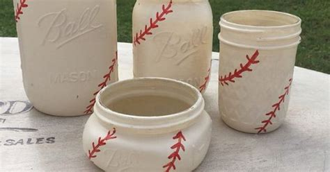 baseball bathroom decor baseball mason jars mason jar bathroom set baseball