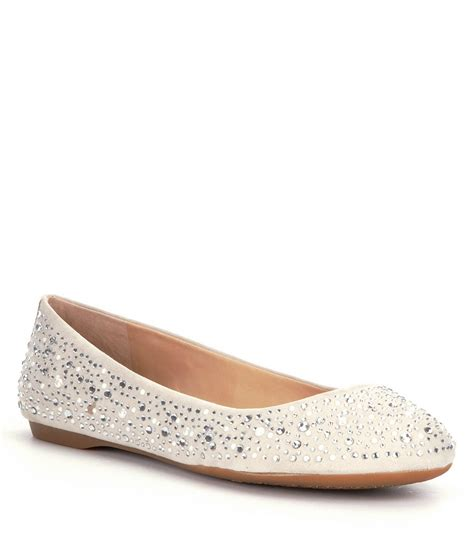 dillards flat shoes gianni bini calla jeweled ballet flats dillards