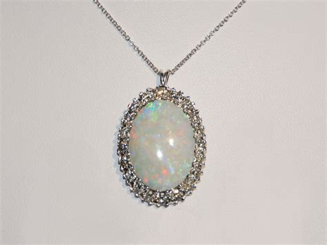 white opal necklace white gold opal and pendant necklace sun city